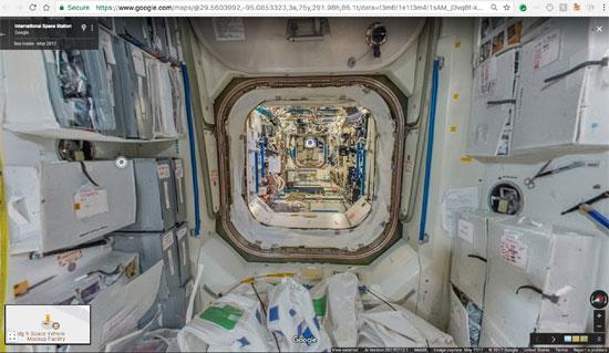 جوجل تنشر خدمة أول مجموعة صور من الفضاء تسمح باستكشاف محطة فضاء افتراضيا (4)