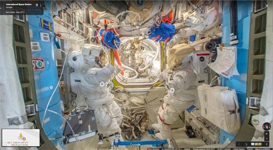 جوجل تنشر خدمة أول مجموعة صور من الفضاء تسمح باستكشاف محطة فضاء افتراضيا (3)