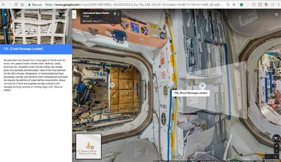 جوجل تنشر خدمة أول مجموعة صور من الفضاء تسمح باستكشاف محطة فضاء افتراضيا (5)