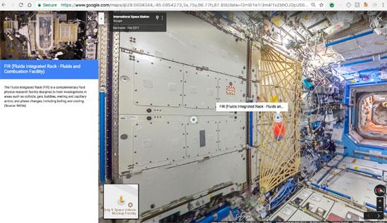 جوجل تنشر خدمة أول مجموعة صور من الفضاء تسمح باستكشاف محطة فضاء افتراضيا (16)