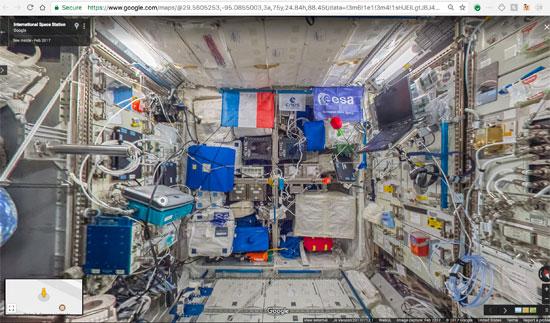 جوجل تنشر خدمة أول مجموعة صور من الفضاء تسمح باستكشاف محطة فضاء افتراضيا (1)