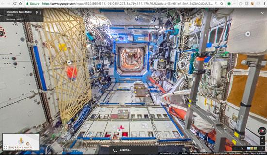 جوجل تنشر خدمة أول مجموعة صور من الفضاء تسمح باستكشاف محطة فضاء افتراضيا (13)