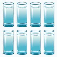 8 أكواب من الماء