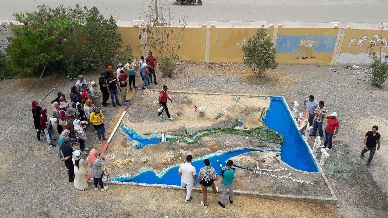 تصميم مشروع بيئى بمدرسة مرسى علم الاعدادية