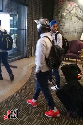 لاعبى الزمالك يغادرون الفندق