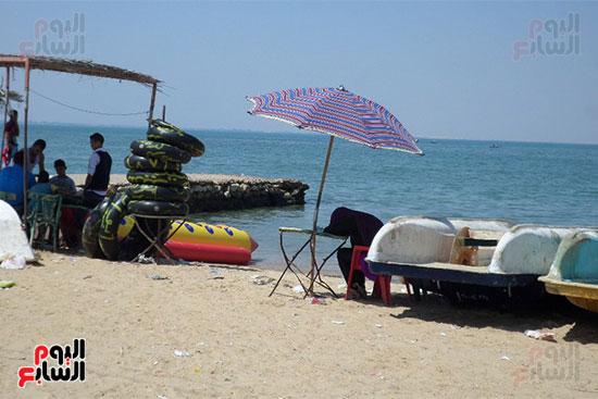 الألعاب المائية على الشاطئ