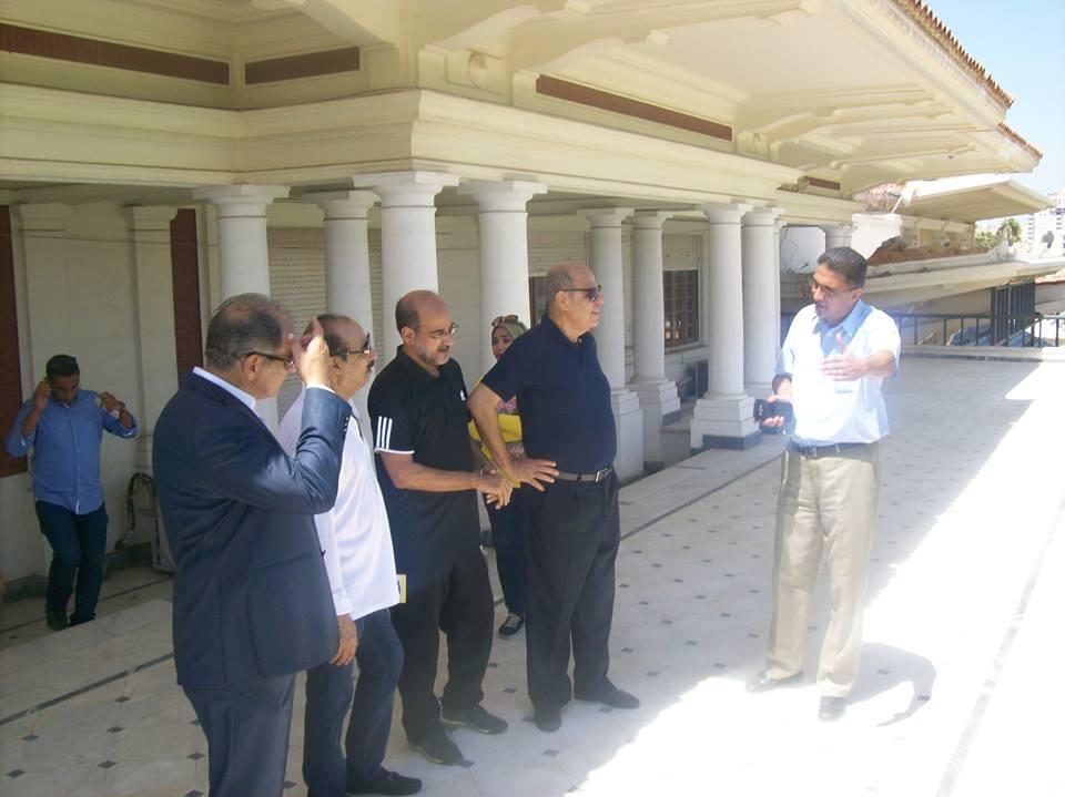الاتحاد العربى يتفقد تجهيزات استاد الاسكندرية
