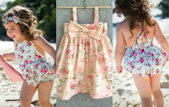 فستان الأطفال الوردى