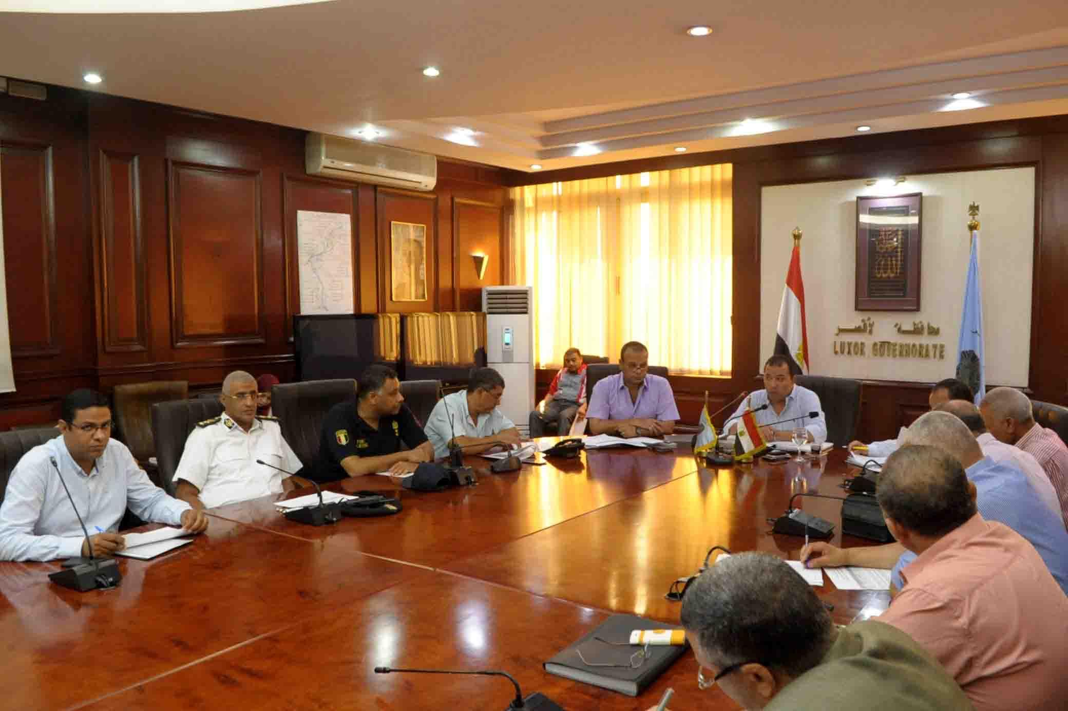 اجتماع المجلس التنفيذي لمحافظة الاقصر