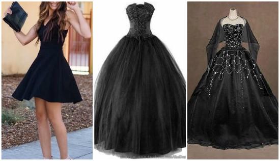 الفستان الاسود المنفوش