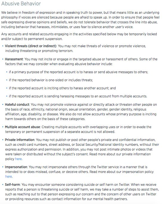 نص قواعد تويتر