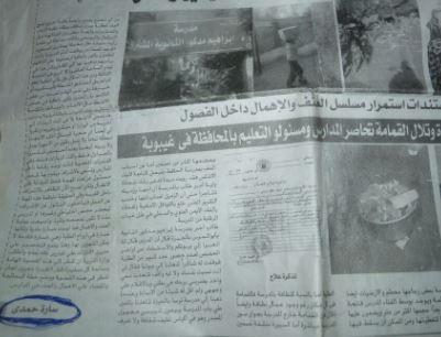 أرشيف سارة حمدى الصحفى