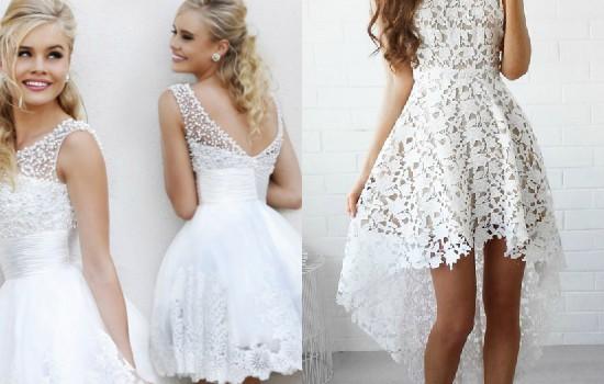 الفستان الأبيض القصيرد