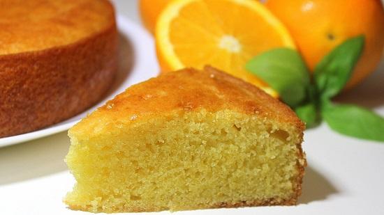 كيكة اسفنجية بالبرتقال