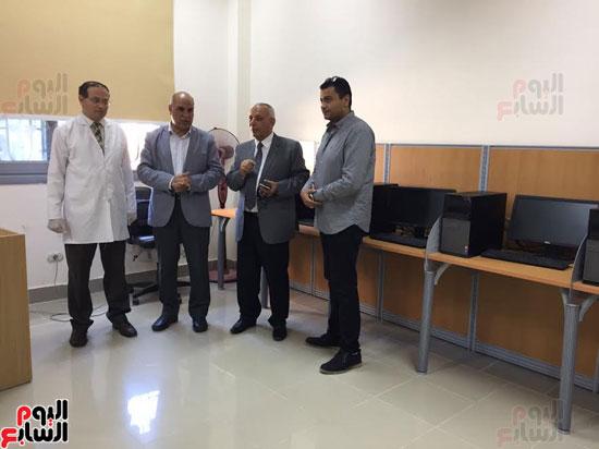 جانب من زيارة رئيس جامعة المتوسط لجامعة كفر الشيخ