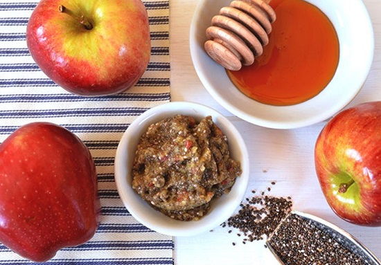 سكراب التفاح والشيا والعسل