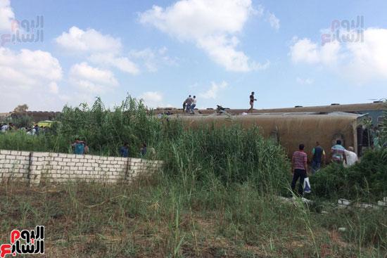 تصادم قطارين فى منطقة خورشيد بالإسكندرية (5)