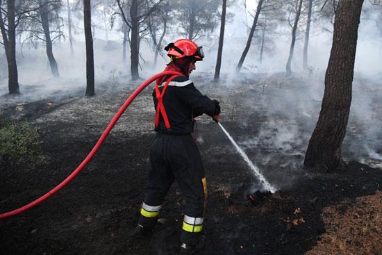 مكافحة حرائق الغابات فى فرنسا