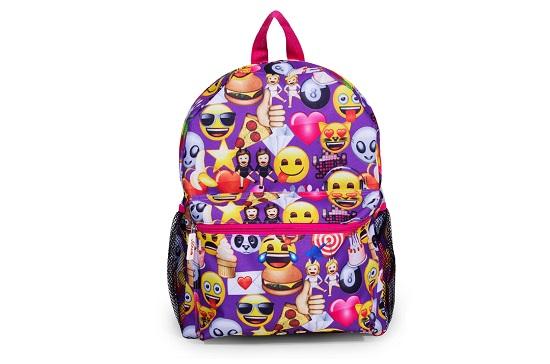 حقيبة مدرسة مزينة بإيموشنز متنوعة