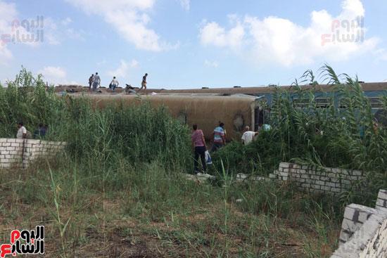 تصادم قطارين فى منطقة خورشيد بالإسكندرية (6)