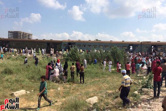 تصادم قطارين فى منطقة خورشيد بالإسكندرية (12)