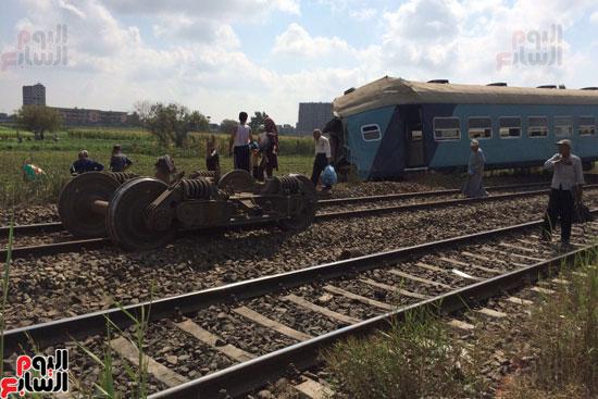 تصادم قطارين فى منطقة خورشيد بالإسكندرية (2)