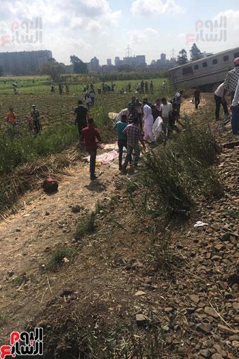 تصادم قطارين فى منطقة خورشيد بالإسكندرية (16)