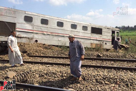 تصادم قطارين فى منطقة خورشيد بالإسكندرية (3)