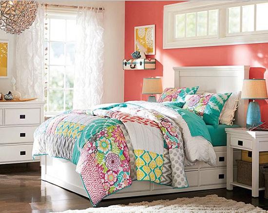الوان غرف نوم ـ المرجانى مع الأبيض