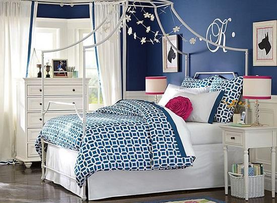 الوان غرف نوم ـ الازرق الداكن