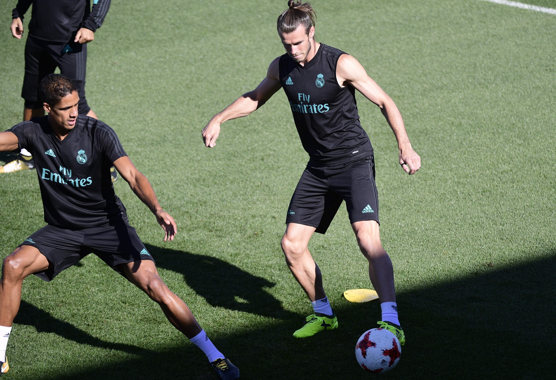 جاريث بيل في تدريبات ريال مدريد 2