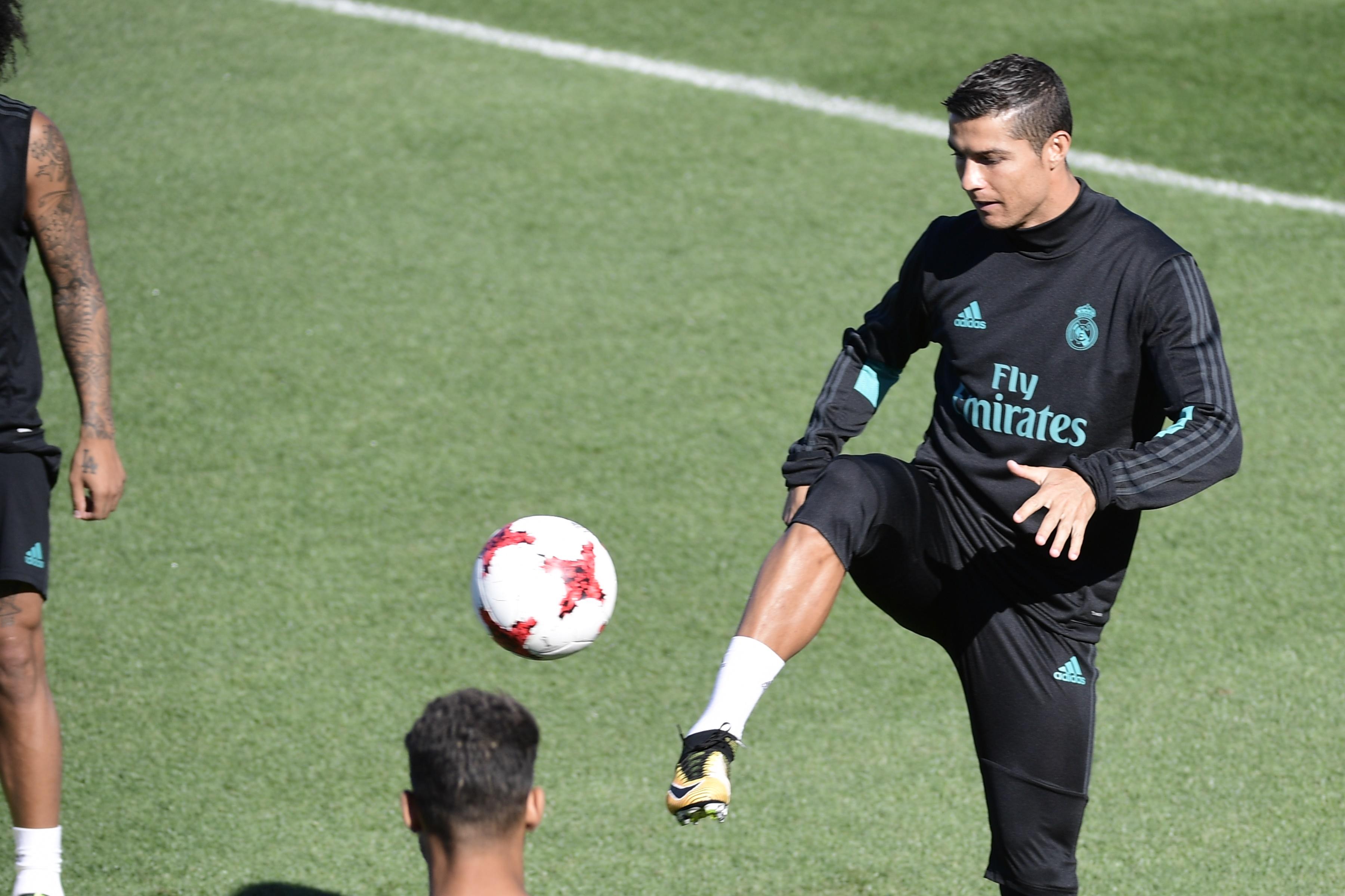 رونالدو في تدريبات ريال مدريد 4