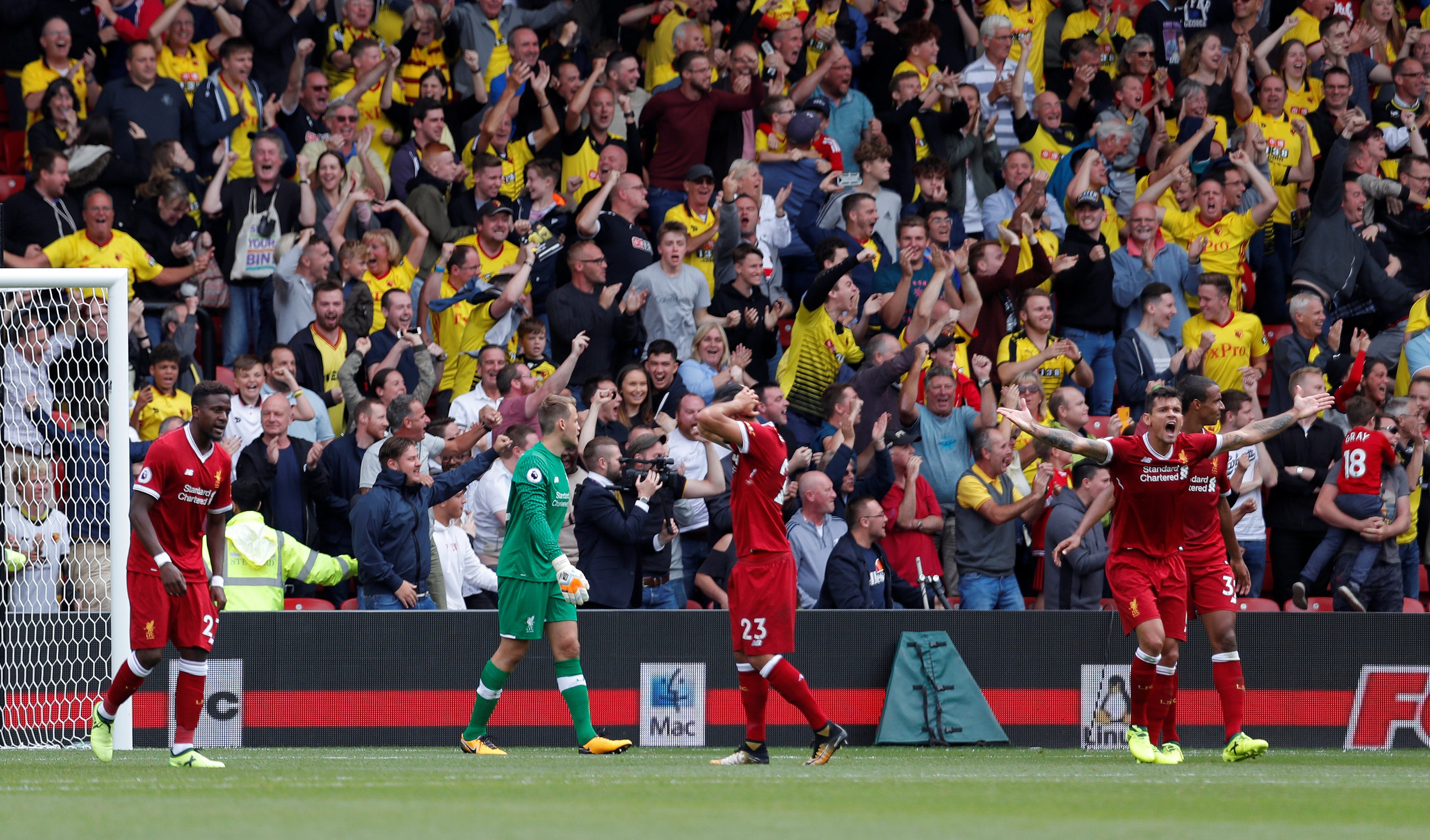ردود أفعال لاعبي ليفربول