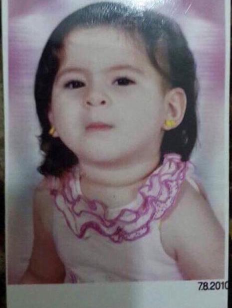 الطفلة هبة فى عمر السنتين