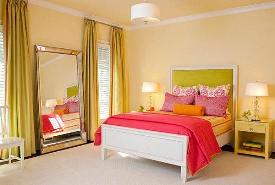 الوان غرف نوم ـ الاصفر الزبدة