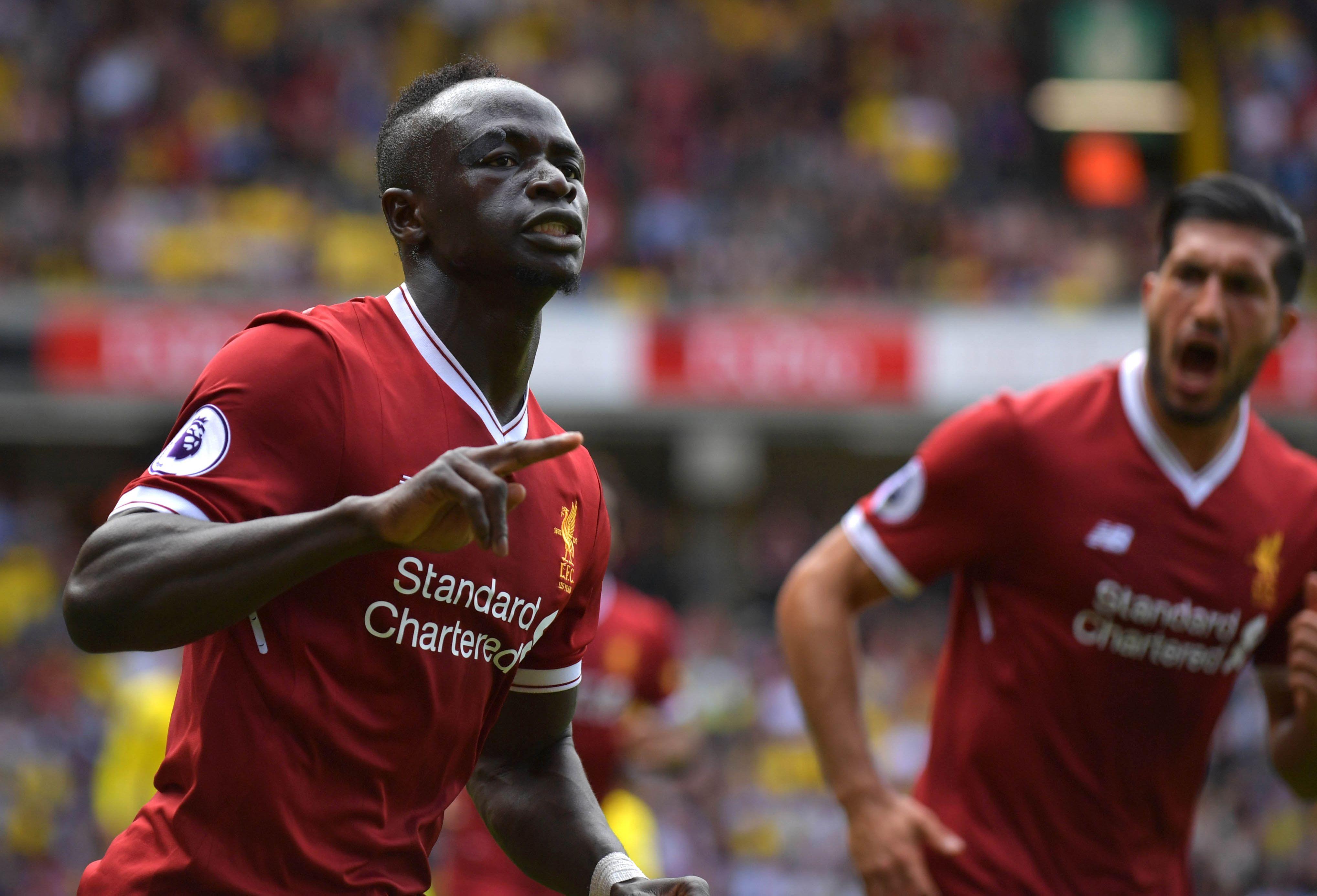 ماني يسجل هدف ليفربول الأول