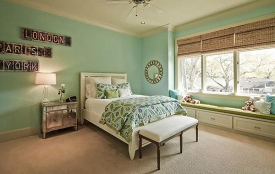 الوان غرف نوم ـ الاخضر الهادئ