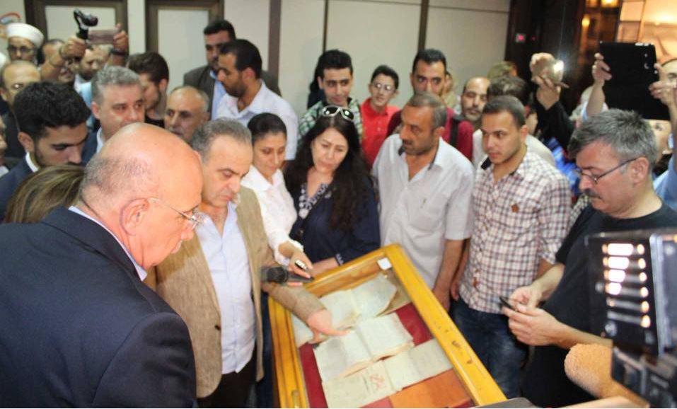رئيس وزراء سوريا يتفقد معرض الكتاب بدمشق (1)