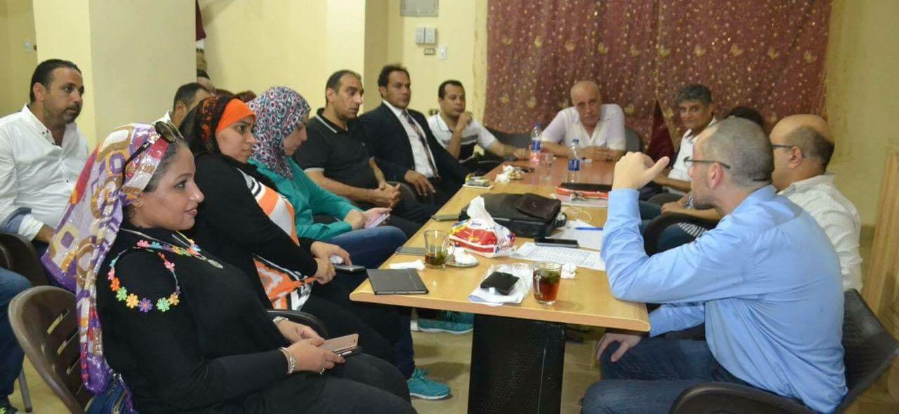 محمد فؤاد يترأس اجتماع الوفد بالهرم