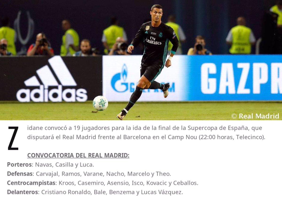 قائمة ريال مدريد لمواجهة كلاسيكو ذهاب السوبر الاسبانى