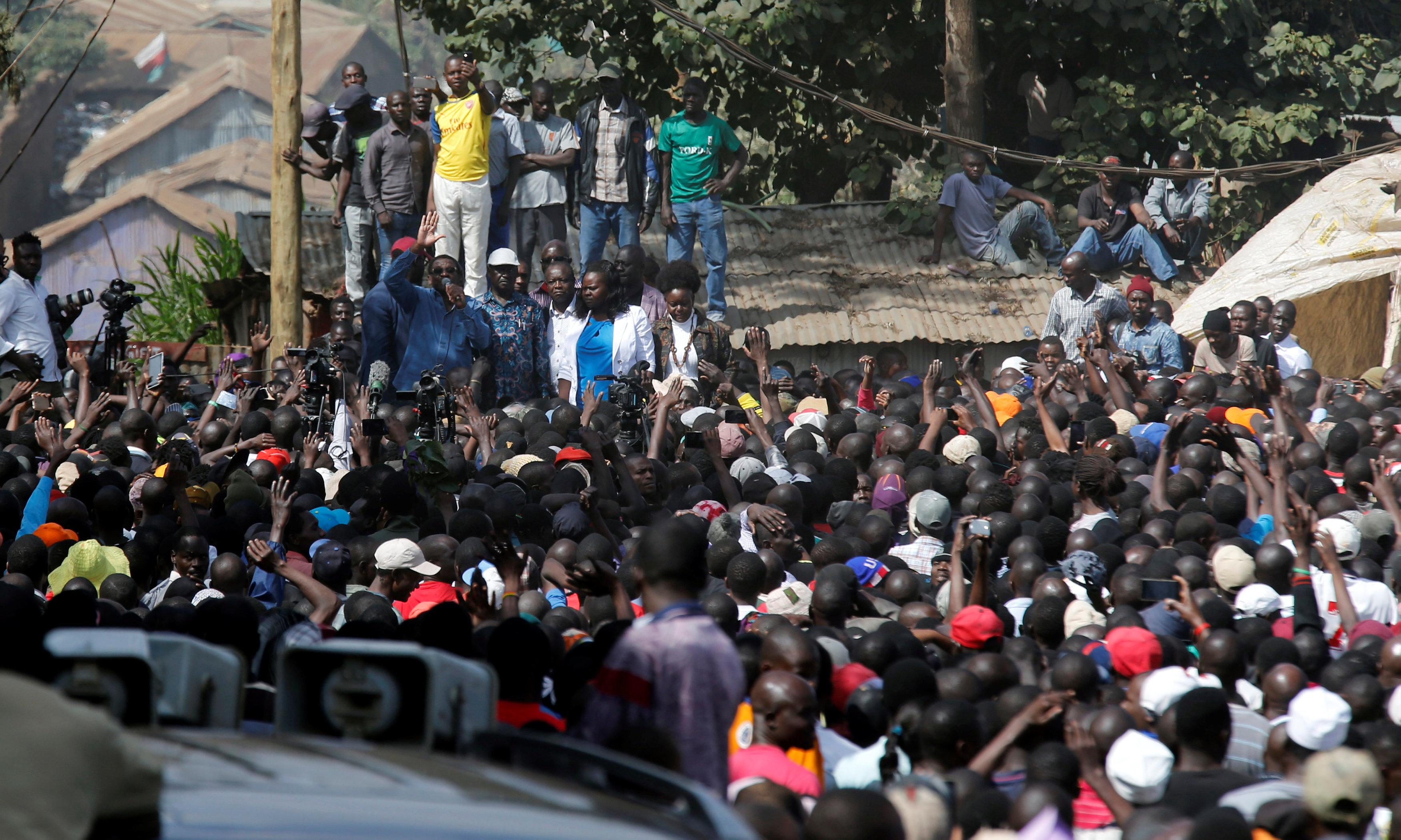 حشد من المعارضة الكينية