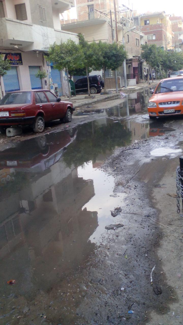 صورة أخرى توضح صفح مياه المجارى