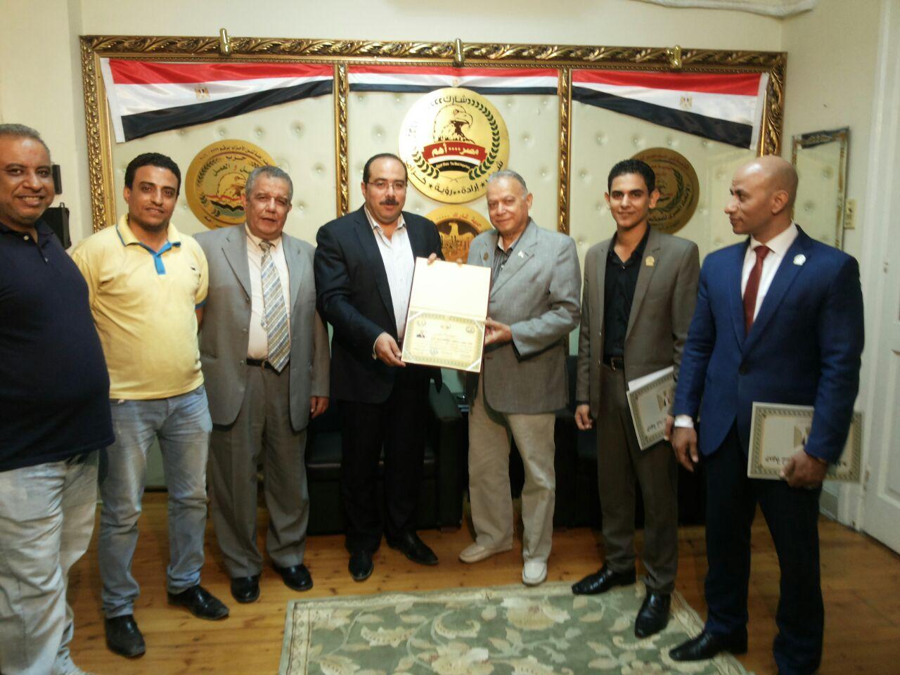 تكريم النائب محمد الكومى