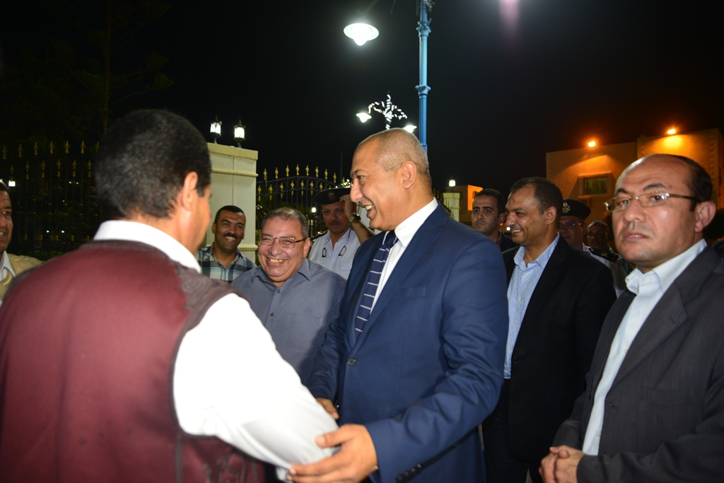 مدير أمن مطروح والسكرتير العام يودعان فوج حجاج القرعة