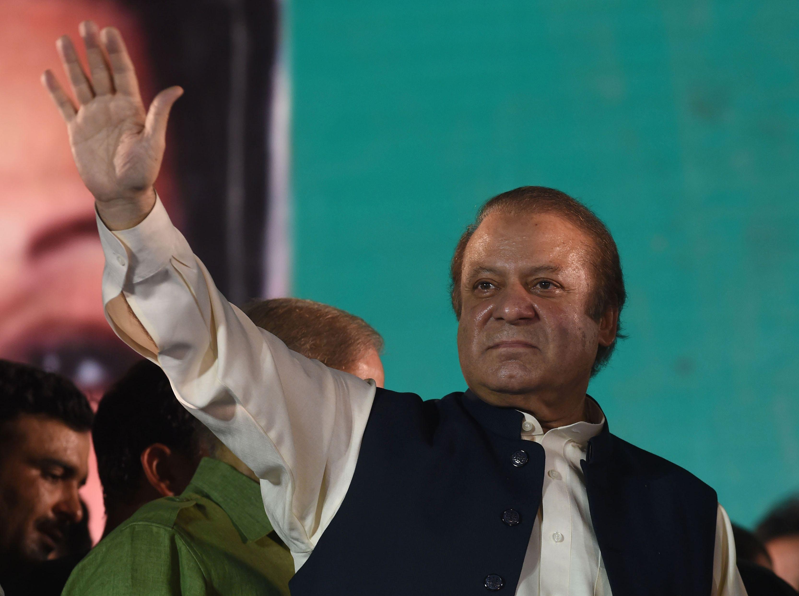 رئيس الوزراء الباكستانى السابق نواز شريف