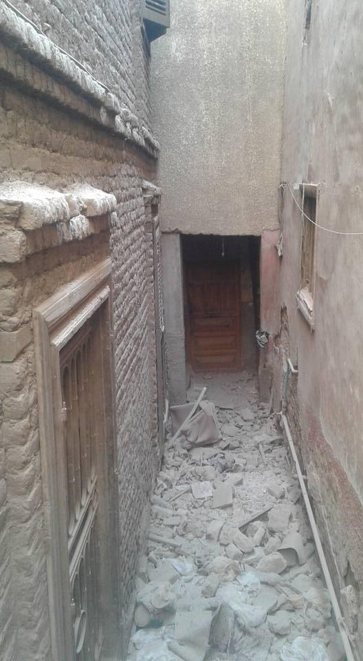 تصدع منزلين بسبب التنقيب عن الآثار باسيوط (3)