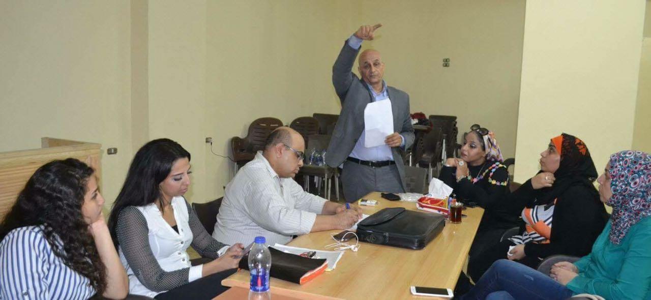 اجتماع لجنة الجيزة بالوفد فى مقر الهرم