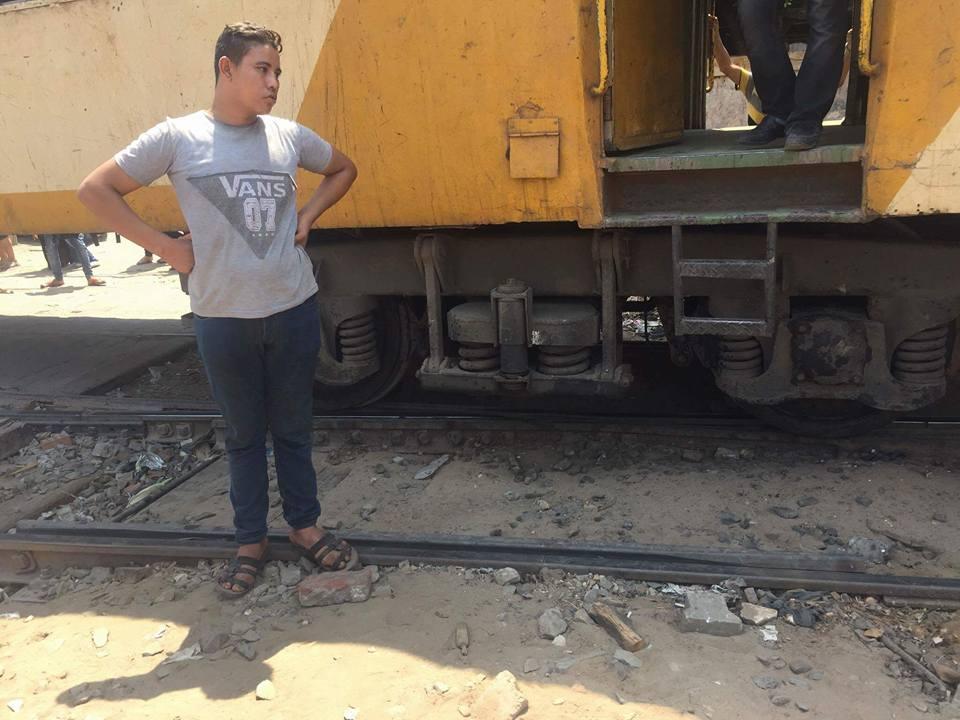 توقف حركة قطارات المنصورة طنطا (1)