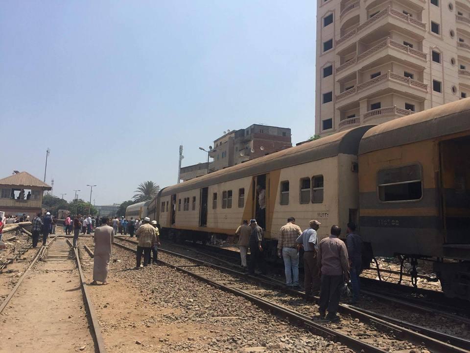 توقف حركة قطارات المنصورة طنطا (3)