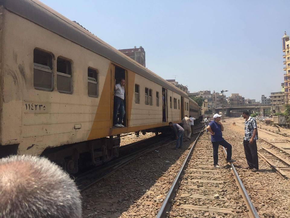 توقف حركة قطارات المنصورة طنطا (6)